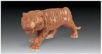 """""""上山虎""""雕塑 - 158246 - 中国当代名家陶瓷 - 2007秋季拍卖会 -中国收藏网"""