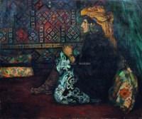 壁毯前的塔吉克新娘 - 刘秉江 - 中国油画雕塑专场 - 十五周年暨2007年春季艺术品拍卖会 -收藏网
