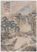 谢时臣 山水人物 立轴 - 谢时臣 - 古代书画 - 2007年四季拍卖会第一季 -收藏网