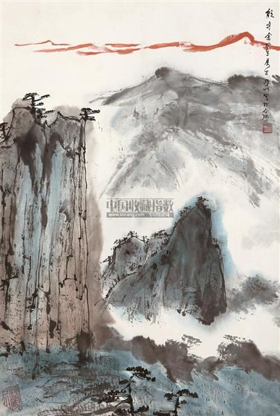 山水 镜片 设色纸本 - 2538 - 中国书画(一) - 2011年夏季拍卖会 -收藏网