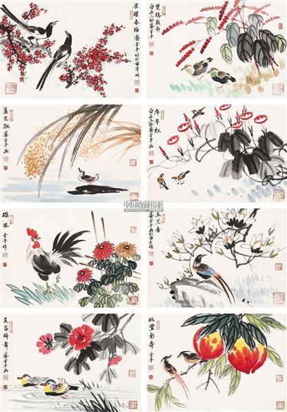 花鸟 镜片 设色纸本 - 141776 - 中国书画(一) - 2011年金秋精品书画拍卖会 -收藏网