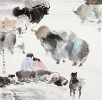 牧歌 镜片 设色纸本 - 149213 - 中国书画 - 2012年迎春艺术品拍卖会 -收藏网