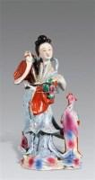 粉彩牡丹仙子像 -  - 陶瓷古玩 - 2011年古今夏季艺术品拍卖会 -中国收藏网