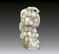 白玉雕松鼠葡萄摆件 -  - 华艺专场 - 2011年拍卖会 -收藏网