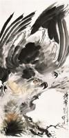 搏击 镜框 设色纸本 - 116765 - 中国近现代书画 - 2011秋季拍卖会 -收藏网