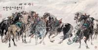 雪中情 镜框 设色纸本 - 许勇 - 中国书画 - 2011春季艺术品拍卖会 -收藏网