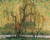 秋色—永定门箭楼 布上 油彩 - 李秀实 - 西洋美术-中国当代油画、雕塑 - 2006春季大型艺术品拍卖会 -收藏网