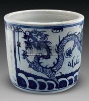 青花海水龙纹香炉 -  - 古董珍玩 - 2011春季艺术品拍卖会 -收藏网