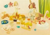 贪吃者的下场 布面油画 - 32762 - 油画专场 - 2011首届秋季艺术品拍卖会 -收藏网