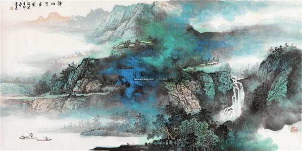 深山可居图 纸本设色 - 38932 - 书画 - 2012新年艺术品拍卖会 -中国收藏网