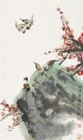 梅雀图 镜心 设色纸本 - 罗铭 - 中国书画(一) - 2007年秋季拍卖会 -收藏网