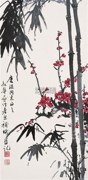 梅竹双清 镜心 设色纸本 -  - 中国书画 - 第55期中国艺术精品拍卖会 -收藏网