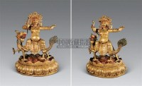 17-18世纪 铜鎏金白财神像 -  - 雪域佛光 - 2007年秋季艺术品拍卖会 -收藏网