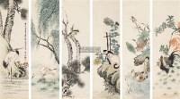 花鸟 六条屏 设色纸本 -  - 中国书画(一) - 2011年金秋精品书画拍卖会 -收藏网