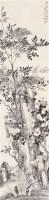 花卉 立轴 水墨纸本 -  - 文盛轩藏中国书画著录专场 - 河南鸿远首届艺术品拍卖会 -收藏网