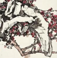 梅石 镜片 设色纸本 - 118346 - 中国书画二 - 2011年秋季拍卖会 -收藏网