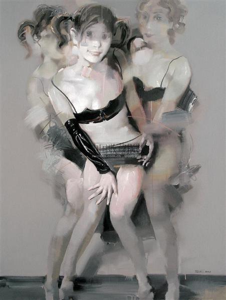 偶像 布面  丙烯 - 157885 - 油画 版画 - 2006秋季艺术品拍卖会 -收藏网