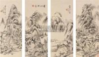 王宸 山水 四屏 - 王宸 - 中国古代书画 - 2006秋季拍卖会 -中国收藏网