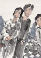 人物 镜心 设色纸本 - 117395 - 中国书画 - 第117期月末拍卖会 -收藏网