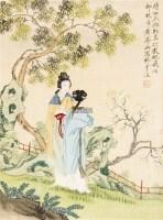 仕女 框 设色绢本 - 149950 - 中国书画(二) - 2011秋季艺术品拍卖会 -收藏网