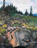 大山水系列(一) 布面 油画 - 罗世国 - 油画、雕塑、版画暨广东油画、水彩 - 2006冬季拍卖会 -收藏网