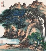 山水 镜心 设色纸本 - 谢稚柳 - 中国书画(一) - 2006年春季拍卖会 -中国收藏网