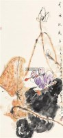 荷塘秋风 立轴 设色纸本 - 118346 - 中国书画一 - 2011秋季书画专场拍卖会 -收藏网