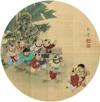 童趣 镜片 绢本 - 吴光宇 - 扇画小品专题 - 庆二周年秋季拍卖会 -中国收藏网