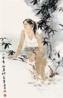 人物 镜心 设色纸本 - 114947 - 中国书画 - 2007春季中国书画拍卖会 -收藏网