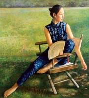 高虹 2000年作 逝去的夏天 布面 油画 - 156593 - 油画 - 2006年金秋珍品拍卖会 -收藏网