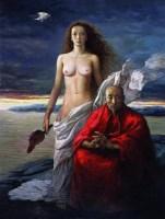 最后的净土之四 布面油画 - 马健 - 中国油画 雕塑专场 - 2008年迎春艺术品拍卖会 -收藏网