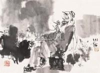 人物 立轴 水墨纸本 - 傅小石 - 翰墨斋书画专场 - 2011首届书画精品拍卖会 -收藏网