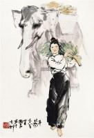 丰收图 镜心 设色纸本 - 20236 - 中国书画一 - 2011首届大型书画精品拍卖会 -收藏网