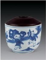 青花五子夺魁盖缸 -  - 瓷器 玉石 - 2007春季艺术品拍卖会 -收藏网