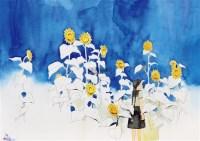 向日葵之歌 水彩 纸本 -  - 动漫专场 - 2011金秋拍卖会 -收藏网