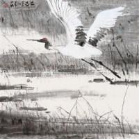 鹤 镜片 设色纸本 - 陈忠志 - 中国书画一 - 2011年春季艺术品拍卖会 -收藏网