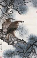 双鹰图 镜心 设色纸本 - 140481 - 中国书画 - 2006广州冬季拍卖会 -收藏网
