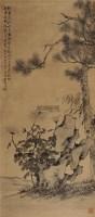三友图 立轴 水墨绢本 -  - 中国书画一 - 2011春季艺术品拍卖会 -收藏网