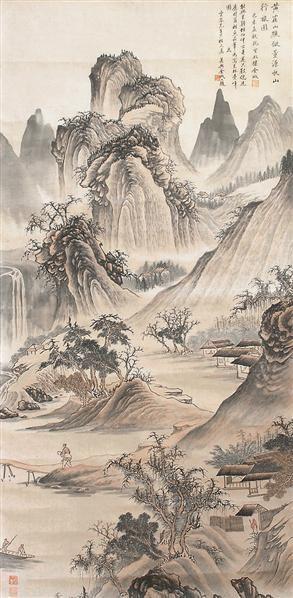 山水 立轴 设色绢本 - 4991 - 书画杂件 - 2007迎春文物艺术品拍卖会 -收藏网