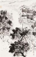 水乡暮泊 立轴 纸本 - 宋文治 - 中国书画专场 - 2012年迎春中国书画精品拍卖会 -收藏网