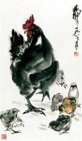 母子图 镜心 纸本 - 7693 - 中国书画(一) - 2011首届秋季艺术品拍卖会 -收藏网