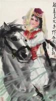 骑马人物 镜心 设色纸本 - 139875 - 中国书画(二) - 2009春季大型艺术品拍卖会 -收藏网