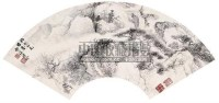 松山飞瀑 扇面 - 溥佺 - 中国书画(二) - 2006年秋季艺术品拍卖会 -收藏网