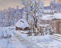 农舍的冬天 - 毛岱宗 - 中国油画 - 2008春季中国油画拍卖会 -收藏网