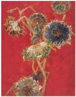 向日葵系列 布面 油画 - 雷双 - 中国油画 - 2007春季大型拍卖会 -中国收藏网