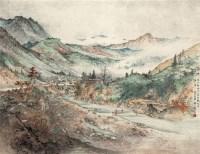 温池 立轴 设色纸本 - 153135 - 近现代书画专场(六) - 2011秋季艺术品拍卖会 -收藏网