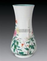 民国 粉彩花卉瓶 -  - 瓷器玉器工艺品 - 2007秋季艺术品拍卖会 -收藏网