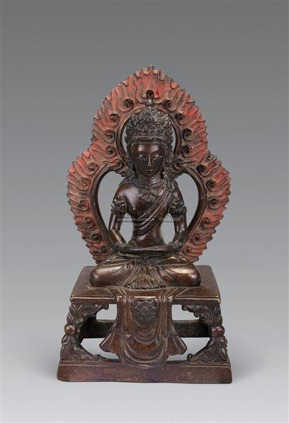 清 铜无量寿佛像 -  - 妙音天籁-佛教艺术品 - 2006年秋(十周年)拍卖会 -收藏网