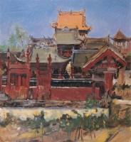 寺院 布面 油画 - 费以复 - 中国油画(二)学院专场 - 2007春季大型艺术品拍卖会 -收藏网