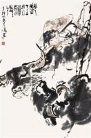 春江归牧 镜心 设色纸本 - 116755 - 中国书画三 - 2011首届大型书画精品拍卖会 -收藏网